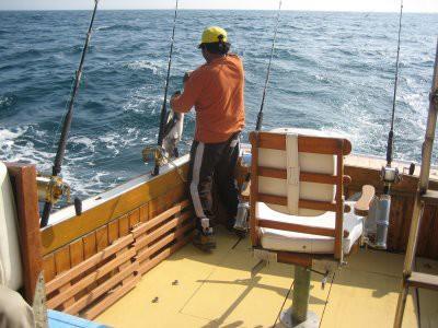 El salto del merlín negro en Cabo Blanco, Peru