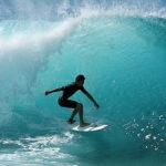 Surfeando en Hawaii