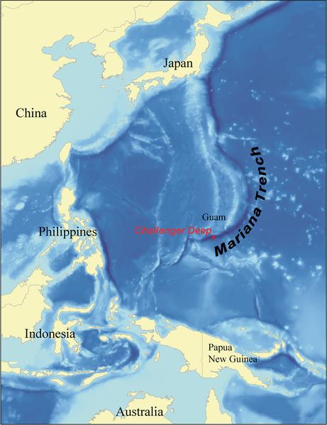 La Tierra Hueca - Página 5 461px-marianatrenchmap