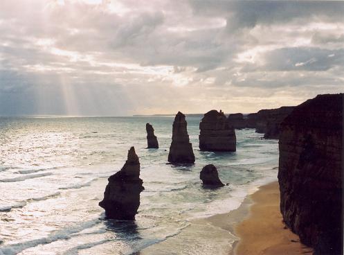 playa de los Doce Apóstoles, en Australia