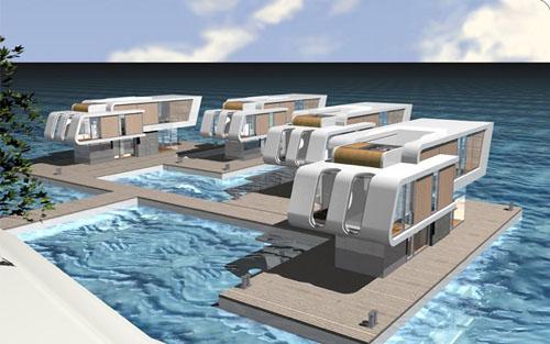 Las casas flotantes la colonizaci n del mar for Casas jardin del mar