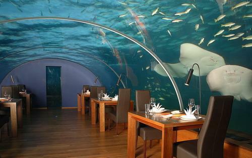 Ithaa, el restaurante submarino de Maldivas