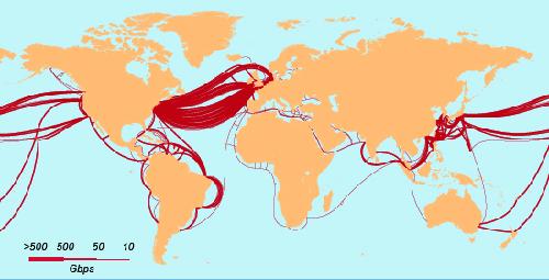 Cables transocéanicos, cruzando el mar