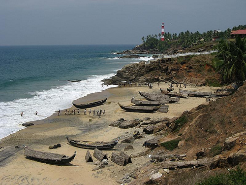 Kovalam, una playa popular en India