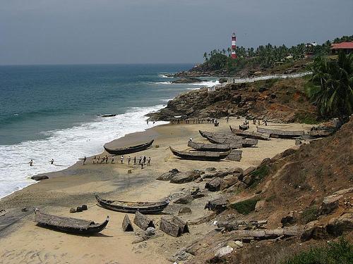 Kovalam, una playa popular en India
