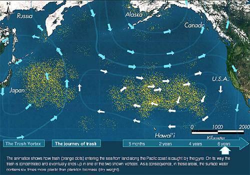 Mancha basura en el Pacifico