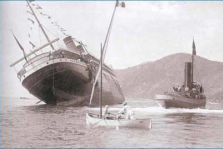 Principessa Jolanda, hundirse sin navegar