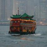 Contemplar Hong Kong desde el mar