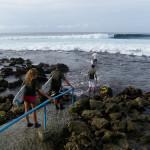 Surf en las costas de Maldivas
