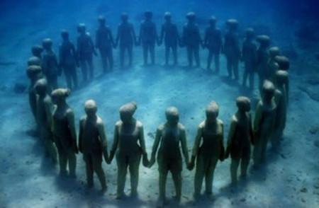 Esculturas submarinas en isla Granada