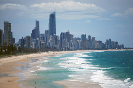 Surfers Paradise, mar y ciudad en Australia
