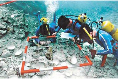 Arqueología submarina en China