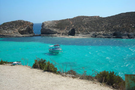 La Laguna Azul de Cominotto, en Malta