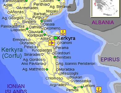 El Estrecho de Corfú
