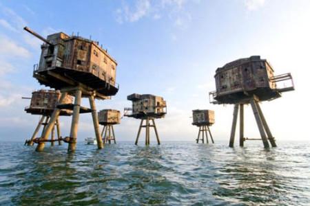 Los Fuertes Maunsell, fuertes marinos