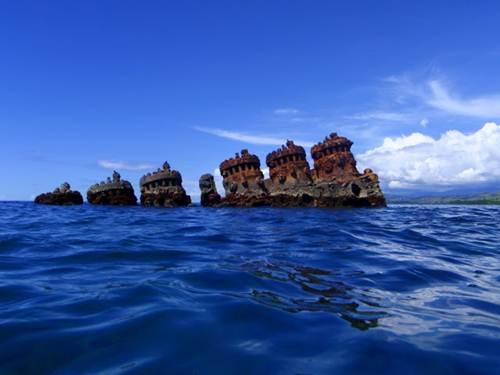 Pecio en islas Salomon