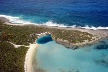 El agujero azul de Dean, en las Bahamas