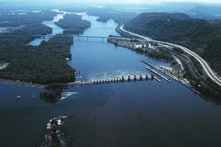 El río Mississippi, en Estados Unidos